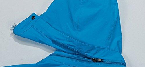 para Large X Chaqueta mujer azul Azul Chaqueta Larga emansmoer Manga RAUB6q