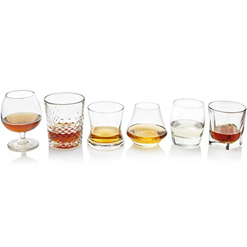 Libbey Whiskey - Libbey Craft Spirits Assorted Drinkware Glasses, Set of 6