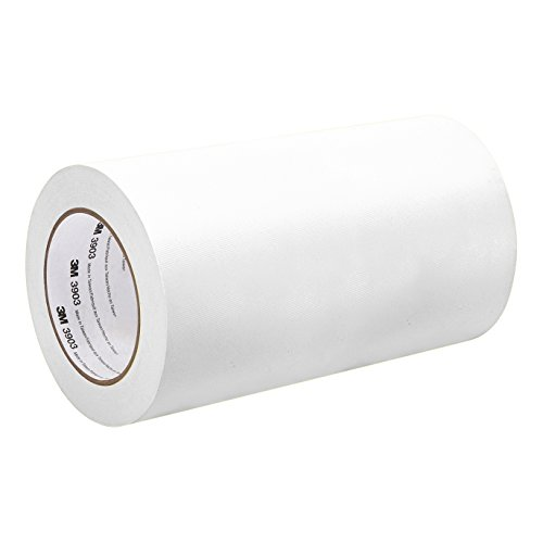 3M 3903 Vinyl Duct Tape - 6 in. x 150 ft. White Rubber Adhesive Tape Roll with Abrasion, Chemical Resistance. Sealing Tapes