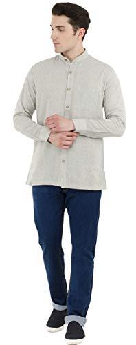 SKAVIJ Button Down Shirts for Men Cotton Long Sleeve Casual Shirts Regular Fit Grey by SKAVIJ (Image #6)