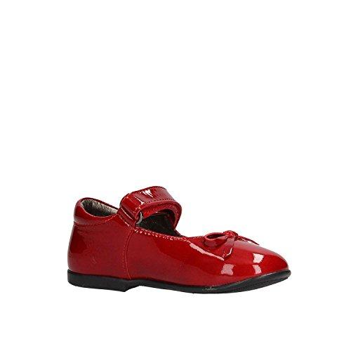 NATURINO - Bailarina azul de terciopelo y charol, ideal para los primeros pasos y el gateo, Niña, Niñas 9104 Rojo