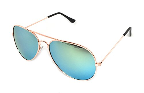 My Shades - Classic Aviator Sunglasses Silver Mirror Color Mirror Retro Metal Teardrop Fits Teens Adults Men Women (Gold Frame, - Cheap Sunglasses ???????