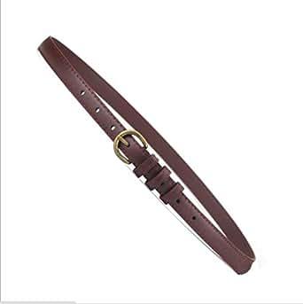 Coffee Faux Leather Belt For Women