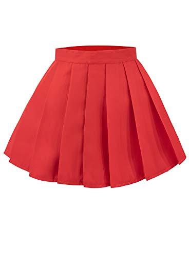 C-ZOFEK Velma Dinkley Cosplay Costume Women's Knitted Jumper Pullover Pleated Skirt (Only Skirt-S, Skirt)]()