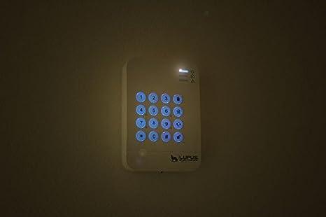 Zugangskontrolle Benutzeranzeige in der Zentrale LUPUSEC Keypad V2 f/ür die XT2 Smarthome Alarmanlage Push Notification bei falscher PIN verschl/üsselte Funk/übertragung