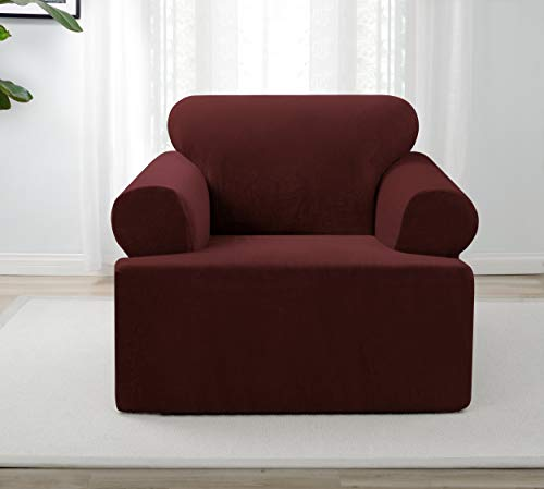 Madison Home PIQ-Chair-T-BU Stretch slipcover Burgundy