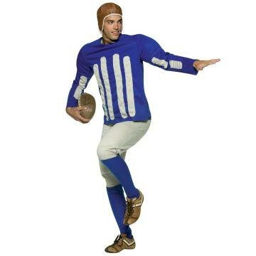 [Old Tyme Football Player Costume - One Size - Chest Size 42-48] (Male Football Player Costume)