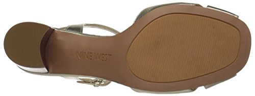 Nine West Tuchscreen metálico de tacón de la sandalia Light Gold