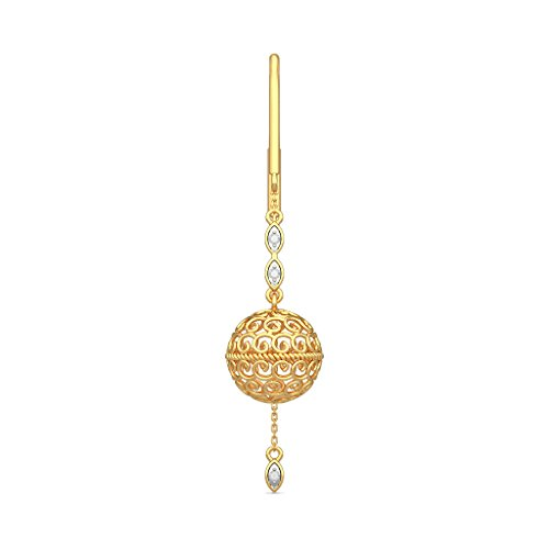 Or jaune 18 K 0,06 CT TW White-diamond (IJ | SI) Pendants d'oreilles