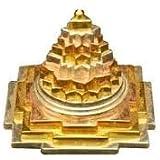 Himalaya Rudraksha Anusandhan Kendra Gold Plated Yellow Ashtadhatu Meru Shree Yantra for Women
