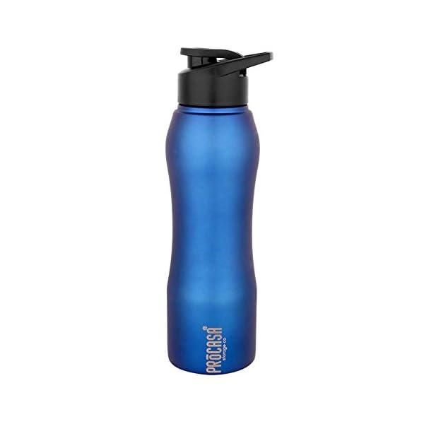 PEARLPET PROCASA 750 Ml, Blue, Sportskool Slim 15/1 Steel Water Bottle,