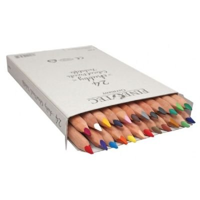 (Finetec Chubby Colored Pencil 24-Color Set)