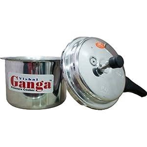 A & Y Traders Vishal Ganga Aluminium Pressure Cooker (2 Litre)