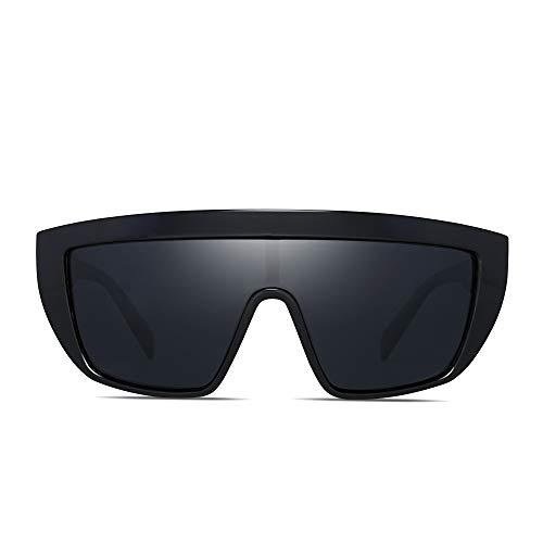 Espejo de Gris Sol Destello Para Mujer Anteojos Polarizado Plano Gafas Hombre Top Escudo Polarizadas Negro Moda HqdwSXd