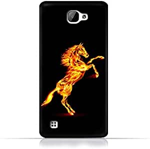 LG X5 TPU Silicone Case With Horse on Flame Design