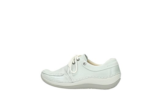 812 Scarpe Offwhite 4800 Donna Stringate Wolky 225 Leather T1pqq7
