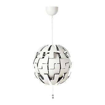 Ikea Ps 2014 Hangeleuchte In Weiss Silberfarben 35cm A Amazon