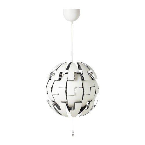 Ikea Ps 2014 Hängeleuchte In Weiß Silberfarben 35cm A Amazon