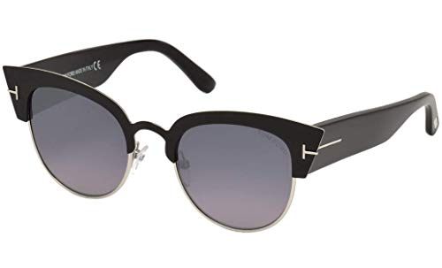 Tom Ford FT0607 05C Black Alexandra Retro Sunglasses Lens Category 3 Lens Mirro