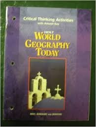 Critical Thinking Activities with Answer Key Holt World Geography Today