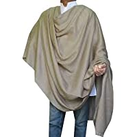 GARG Men's Woolen Dhariwal Hot Kashmiri Shawl,Free Size (Brown, 166)