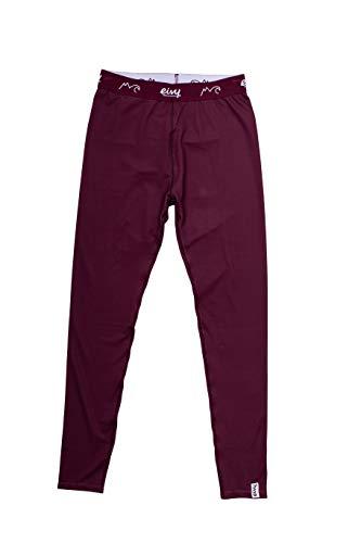 EIVY Damen Icecold Tight Baselayer warme Ski-Thermo Funktionsunterwäsche Legging Funktionshose, Wine, M