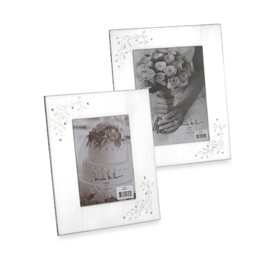 8 X 10 Silverplated Shimmer Frame By Nicole Miller Amazoncouk