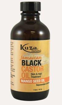 Kuza - Aceite de ricino negro jamaiquino con semillas de mango, tratamiento para el cabello y la piel, 118 ml: Amazon.es: Belleza