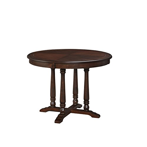 Home Styles 5522-30 Country Comfort Dining Table, Aged Bourbon Finish (Home Styles Round Pedestal)