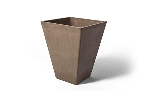 Algreen 17829 Valencia Planter, 11.5 by 14-Inch Taupe