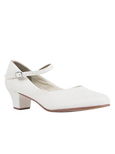 Ledersohle Salsa Schuhe 4 Button CH50 Weiß Ballroom Rumba mit Absatz So Tango Tanzschuhe Danca Charakterschuhe Latein cm vXFTqA