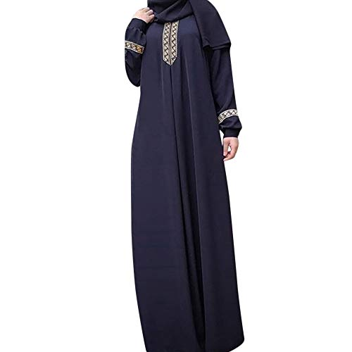 Nadition Women Dress  Plus Size Retro Print Dress Abaya for sale  Delivered anywhere in USA