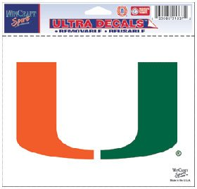 WinCraft NCAA University of Miami (Florida) Multi-Use Colored Decal, 5