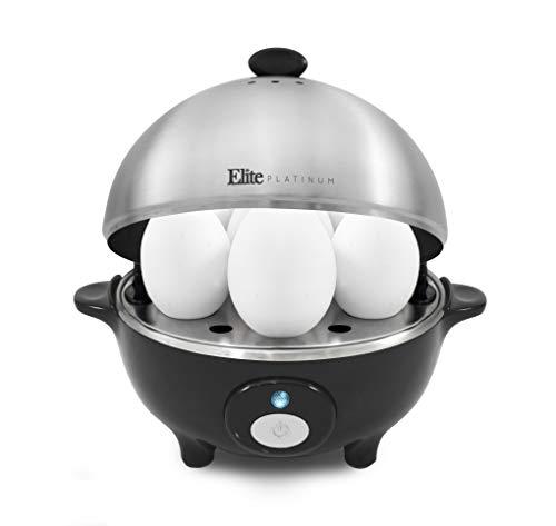 Elite Poacher, Omelet Medium, Hard-Boiled with Buzzer and Stainless Steel 7 Egg Capacity,