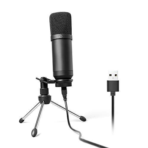 USB Microphone 192KHZ/24BIT MAONO AU-A04TR Cardioid Condenser Podcast PC Studio Mic with Professional Sound Chipset Plug & Play for Computer, livestreaming, YouTube, Gaming Recording, Voice Over (Best Rode Mic For Rap Vocals)
