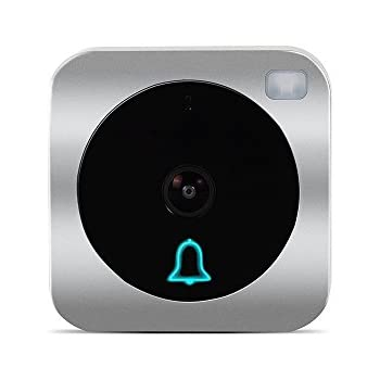 Wifi Video Doorbell, Works with Alexa Echoshow, Doorbell Camera, HD720p Cam,Two-Way Audio, IP53 Waterproof, Smart Motion Detetion, Infrared Night Vision AC 8-24V DC 9-36V(Hard Wire Version) (Doorbell)