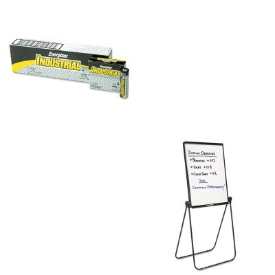 KITEVEEN91QRT101EL - Value Kit - Quartet Ultima Presentation Dry Erase Easel (QRT101EL) and Energizer Industrial Alkaline Batteries (EVEEN91)