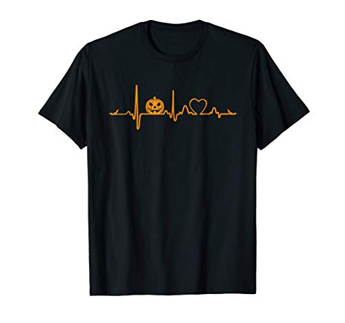 Pumpkin Heartbeat Halloween T-Shirt]()