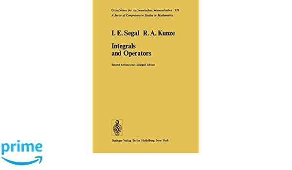 Integrals and Operators