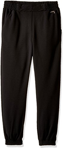Guess Girls' Big Heavy Stretch Crepe Jogger Pant, Noir/Jet Black A, 12