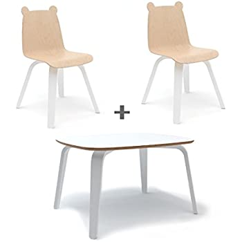 Amazon Com Buschman Set Of Table And 2 White Kids Eames