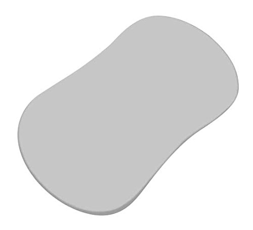 SheetWorld Fitted Bassinet Sheet  - Flannel - Silver Grey -