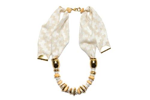 Impatiente Fortunato Bartolomeo Age de collier en or blanc de 80cm