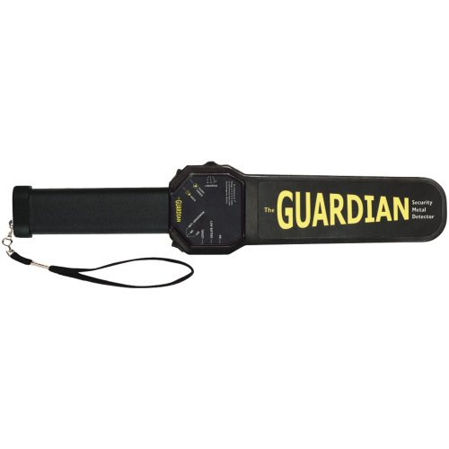 1 - Guardian Hand Wand, Full-featured yet compact handheld metal detector , Audio, silent-vibration & LED alerts , S3019