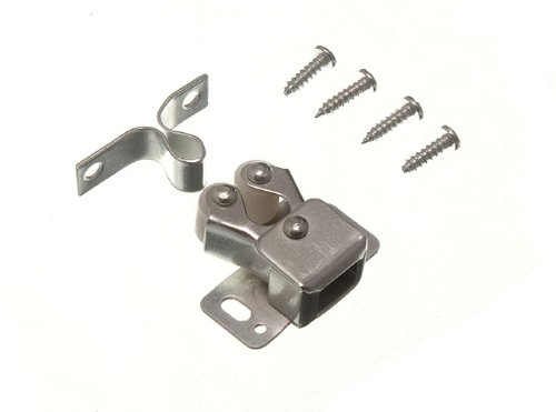 Double Roller Catch Twin Cupboard Latch Bzp With Screws Pack Of 4