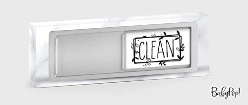 BabyPop! Newest Design Dishwasher Magnet Clean Dirty Sign Indicator, Trendy Universal Kitchen Dish Washer Refrigerator Magnet, Super Strong Magnet with Stickers for Kitchen Organization and Storage