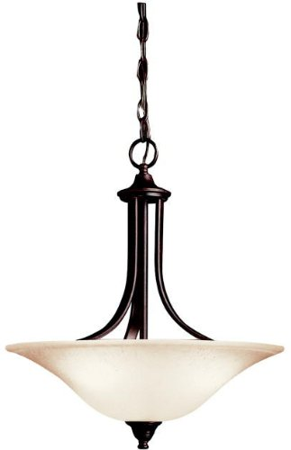 Kichler 3502TZ Dover Pendant/Semi-Flush 3-Light, Tannery -