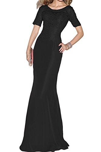Vestidos de baile Toscana novia estilo gasa vestidos de noche de cristal en forma de corazón largo de dama de honor negro