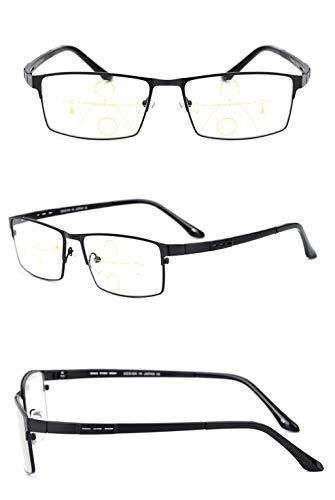 Brown de Ultraligero Zoom Inteligente Gafas 3X de Tamaño Sol lens para de Brown Black Hombres lectores Brown decoloradas de la Lens DAFREW Material Color Gafas Fatiga prevención Lectura UBwCqq5