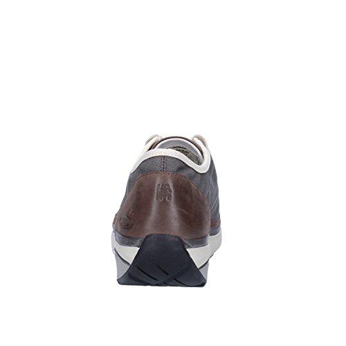 MBT Sneakers Damen Leder Textil (38 EU, Braun/Grau)